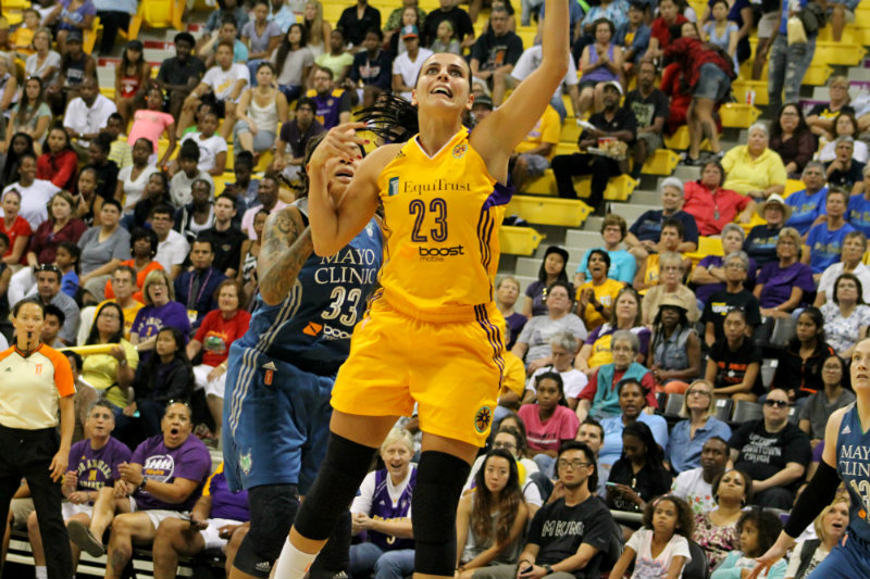 Ana Dabovic racked up 19 points in Game 2 of the Los Angeles Sparks series against the Minnesota Lynx. Photo by Dennis J. Freeman/News4usonline.com