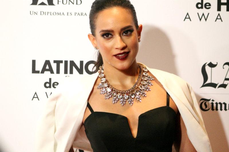TV personality Sarah Mundo on the red carpet at Latinos De Hoy Awards. Photo by Dennis J. Freeman/News4usonline.com