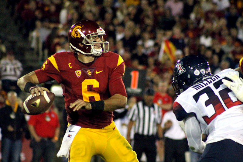 Quarterback Cody Kessler completed 22 of 36 passes for 243 yards and two touchdowns against Arizona. Photo by Dennis J. Freeman/News4usonline.com