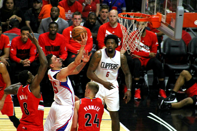 Austin Rivers going strong to the basket. Photo by Dennis J. Freeman/News4usonline.com