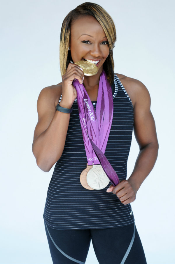 Carmelita Jeter won three medals at the 2012 Olympics, is hoping to make the 2016 USA team. Courtesy photo