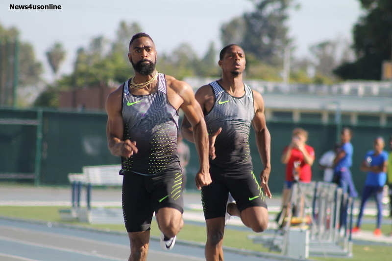 Tyson Gay wins the men's 200 meters in a time of 20.2 at the So Cal Jim Bush Championships. Photo by Dennis J. Freeman/News4usonline.com