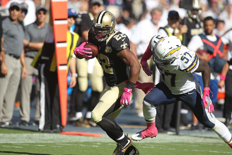 Sunday October 2, 2016; The New Orleans Saints defeated the San Diego Chargers by the final score 35-34 at the Qualcomm Stadium in San Diego, CA.