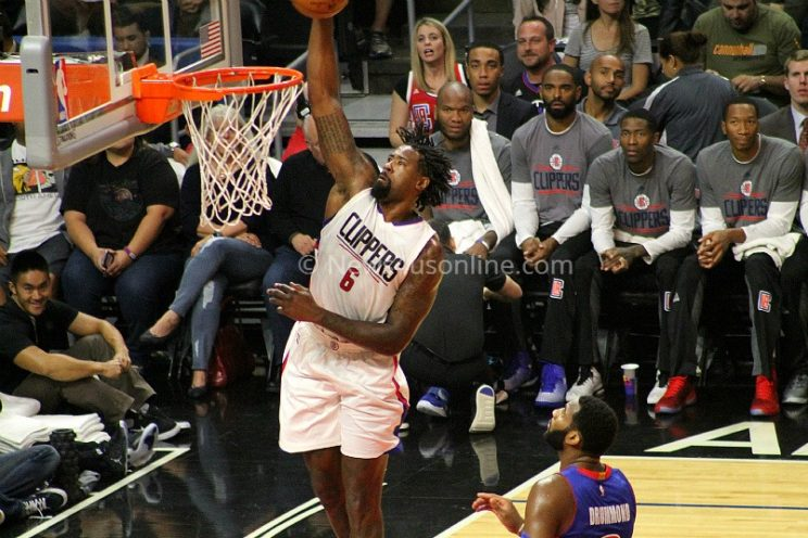DeAndre Jordan with the exclamation point.