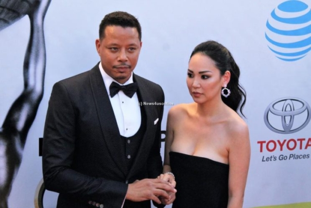 """Empire"" star Terrence Howard and wife at the 48th Annual Image Awards. Photo by Dennis J. Freeman/News4usonline.com"