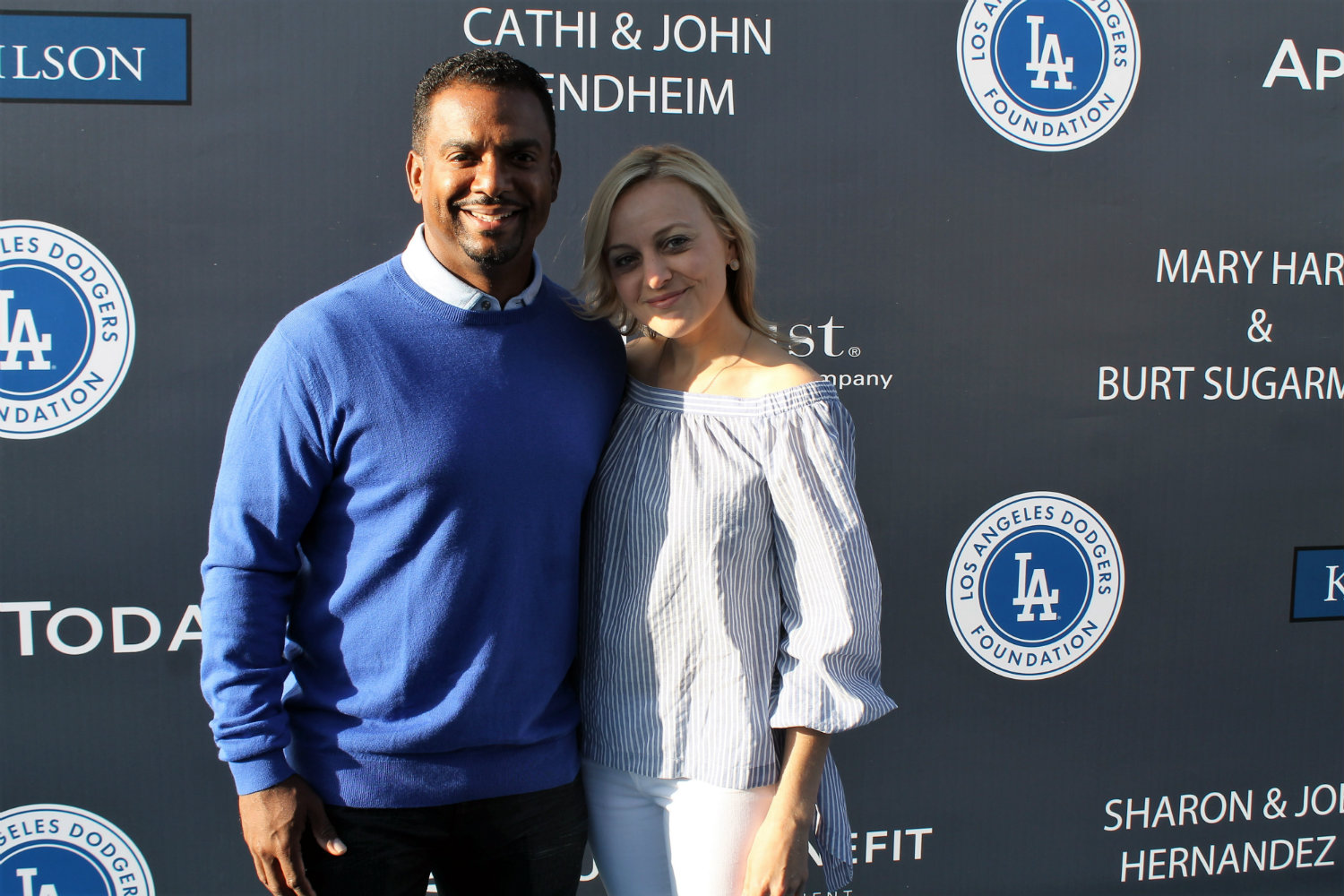Actor Alfonso Ribeiro make it down the blue carpet of the Dodgers 3rd Annual Blue Diamond Gala at Dodger Stadium. Photo by Dennis J. Freeman/News4usonline.com