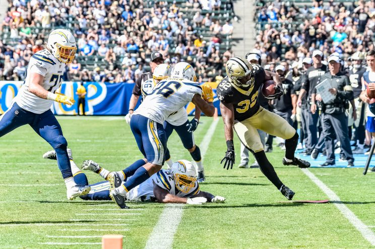 Chargers and Saints in preseason NFL action 2019