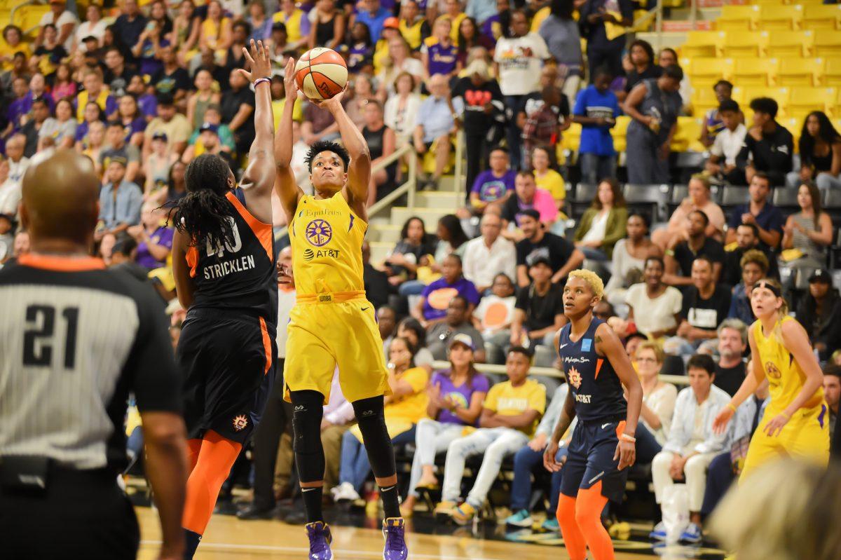 Sparks play Sun in WNBA playoffs
