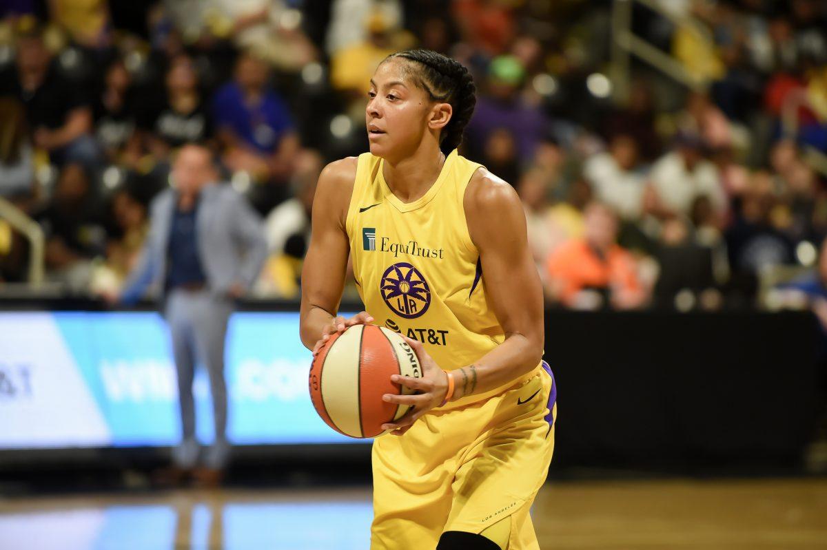 Sparks-Sun WNBA playoff game in Long Beach, California.