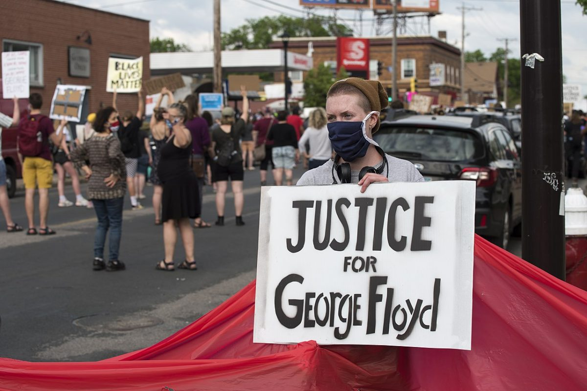 Protesting the killing of George Floyd