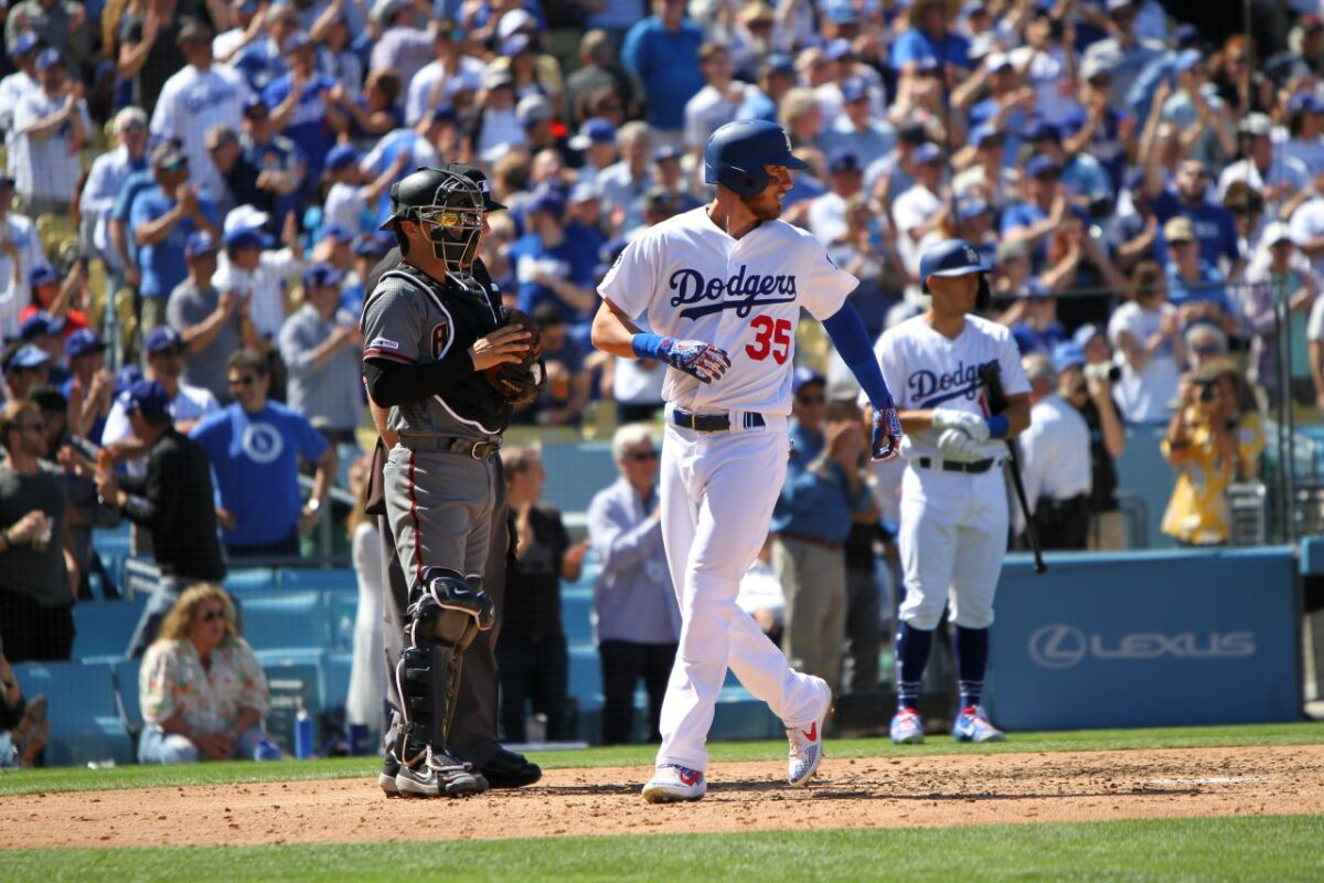 Cody Bellinger of the Los Angeles Dodgers