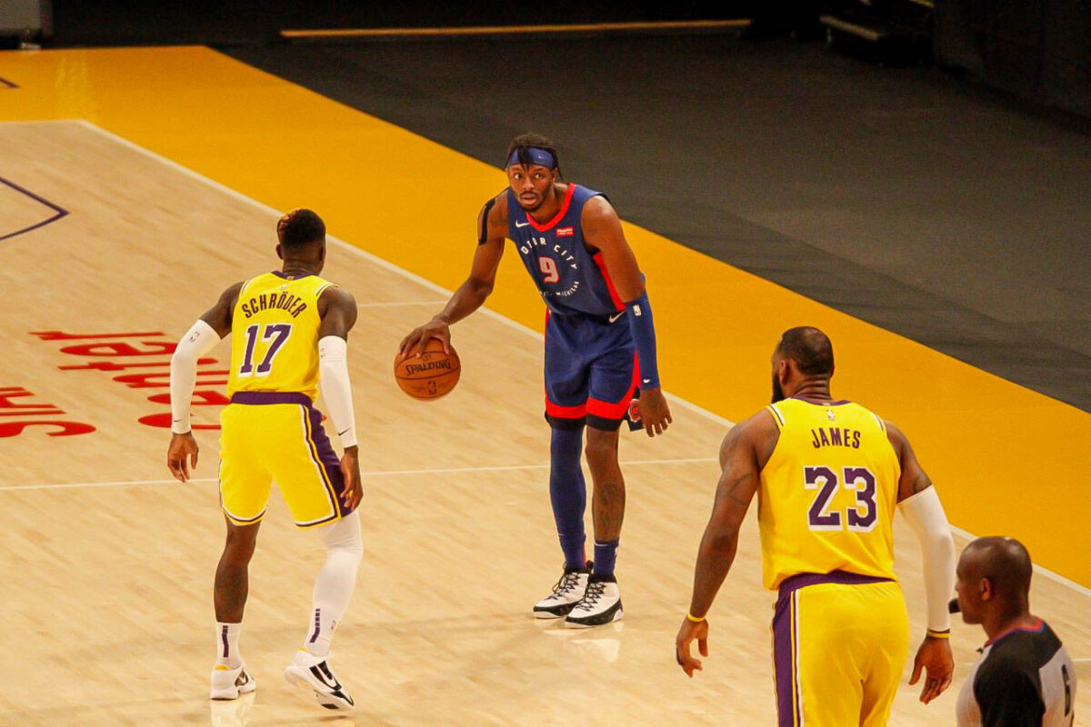 Lakers play Pistons at Staples Center