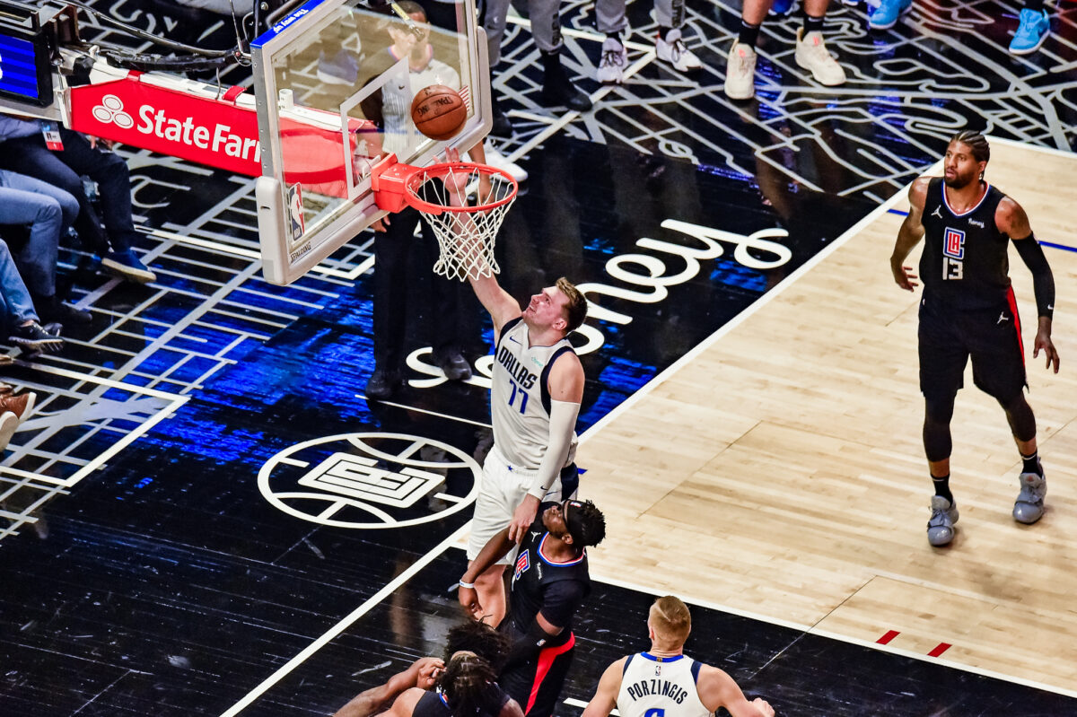 Luka Doncic goes for 39 points to help lead the Dallas Mavericks to a 127-121 Game 2 win against the Los Angeles Clippers. Photo credit: Mark Hammond/News4usonline