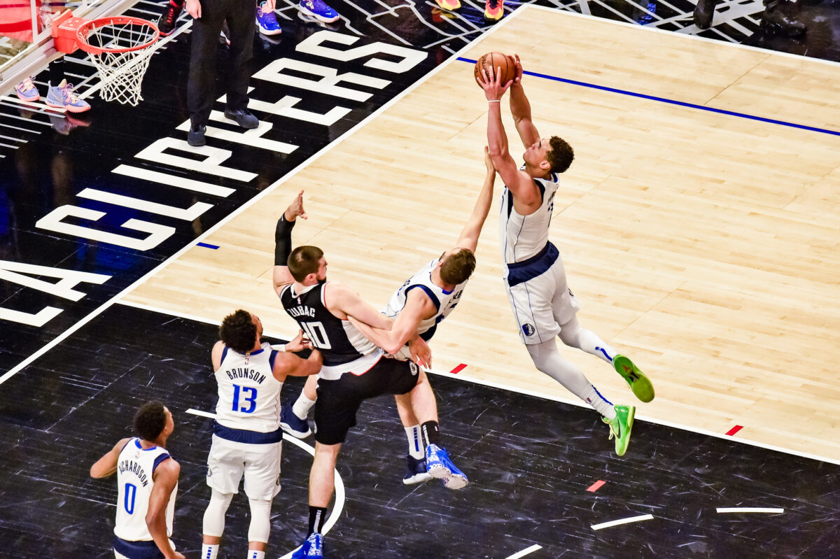 Game 7 action between the Los Angeles Clippers and the Dallas Mavericks. The Clippers defeated the Mavericks at STAPLES Center, 126-111. Photo credit: Mark Hammond/News4usonline