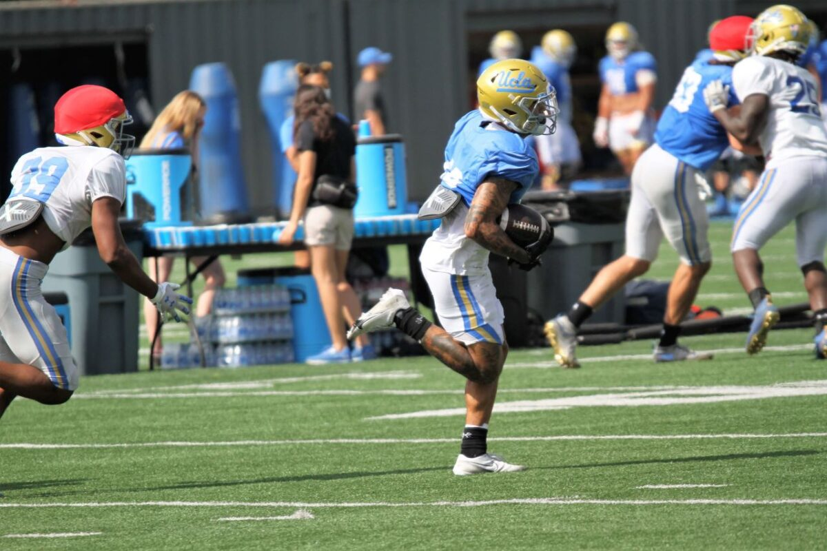 May 27, 2021-Special teams was one of the areas that the UCLA football team worked on during their spring camp. Photo credit: Dennis J. Freeman/News4uonline